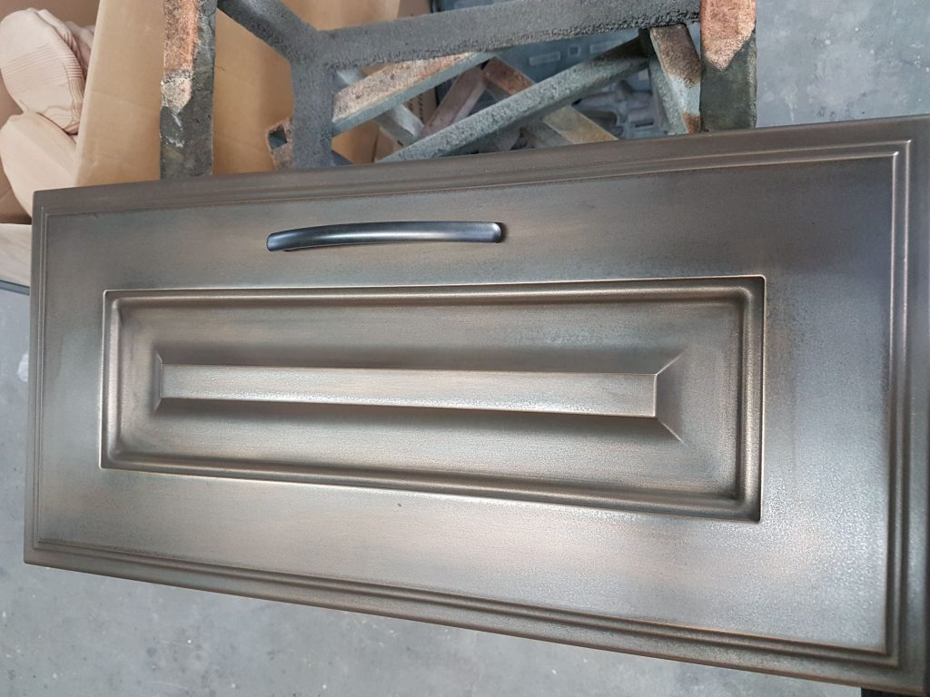 Keukendeur brons- Metalizers